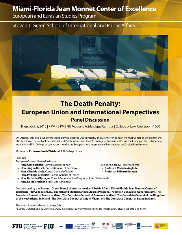 panel discussion on the death penalty european union and international perspectives miami. Black Bedroom Furniture Sets. Home Design Ideas