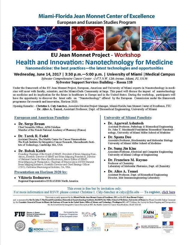 EU Jean Monnet Project - Workshop : Nanomedicine: The Best